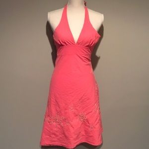 Forever 21 Coral Halter Top Dress w/ Starfish